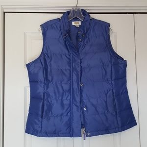 Talbots goose down puffer vest, size large